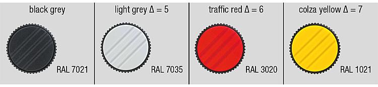 Metric Traffic Red Color Pack of 10 Size 2 51 mm Height 26 mm Diameter Kipp 06092-2086X25 Thermoplastic Knurled Knob with M8 External Thread Bolt Steel 25 mm Screw Length