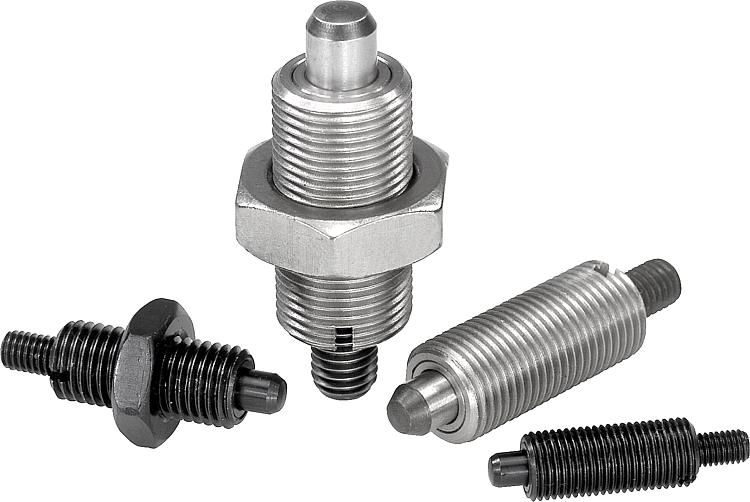 A Style 3//8-24 Thread Locking Pin Not Hardened Kipp 03089-15105AL Stainless Steel Indexing Plunger Inch 34.5 mm Length Pull Knob Natural Finish Short Version