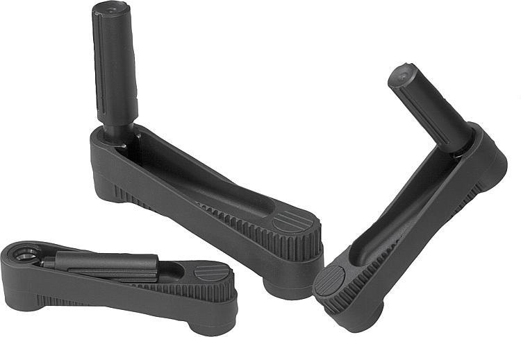 KIPP - Crank handles with fold-down grip