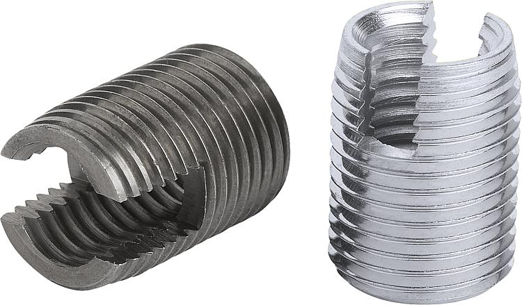 KIPP - Threaded inserts self-tapping with cutting slot