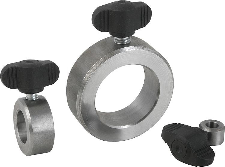 Kipp shaft collars with wing grip similar to din steel