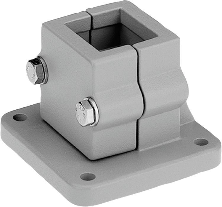 Kipp tube clamps base aluminium