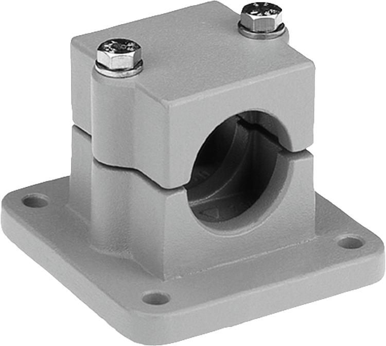 Kipp tube clamps flange aluminium