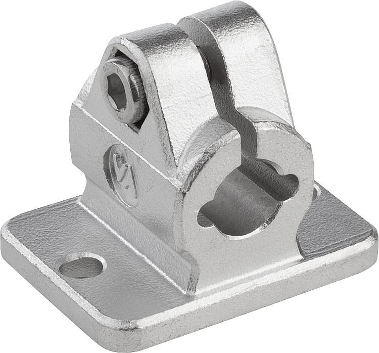 Kipp tube clamps flange stainless steel