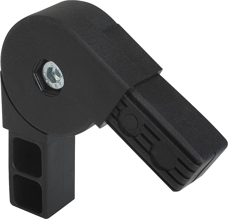 Kipp square tube connectors two way swivel