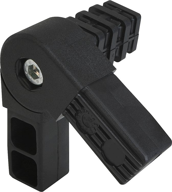 Kipp square tube connectors three way swivel