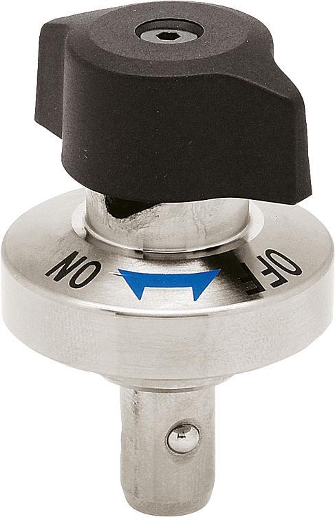 Kipp Ball Lock Pin With Twist Knob