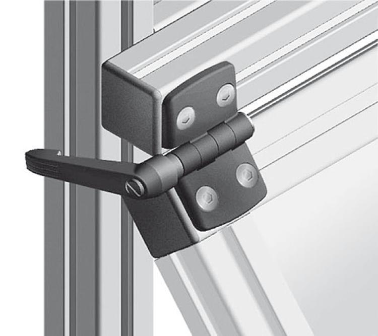 Hinge With Locking Lever : Kipp hinges plastic with locking lever