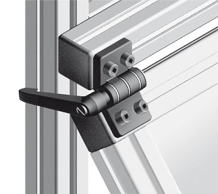 Hinge With Locking Lever : Kipp hinges die cast zinc with locking lever
