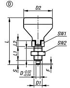 Indexing plunger with status sensor, Form D