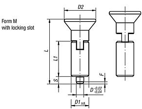 Indexing plungers without collar, Form M