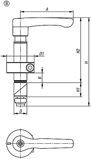 Clamping pin, steel Form B