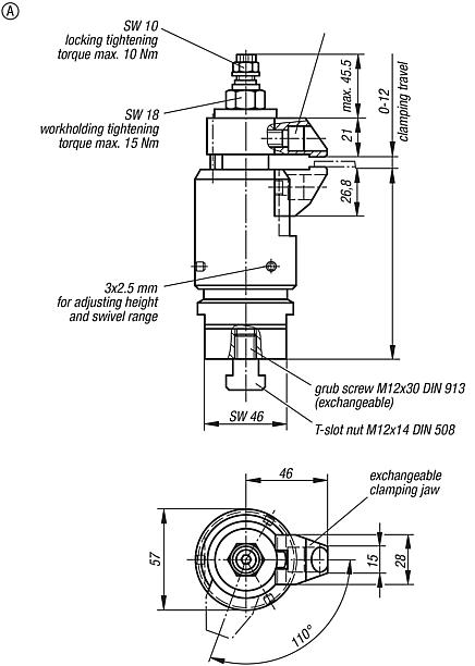 Floating clamp with separate workpiece clamp and interlock