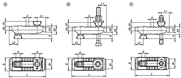 Clamp strap assemblies