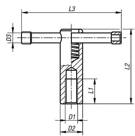 Tommy bars with sliding T-bar, DIN 6307