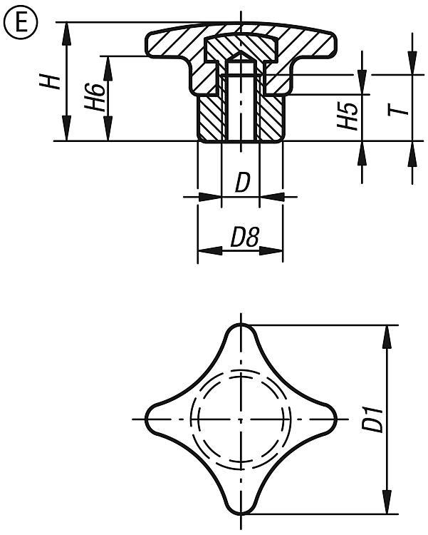Kippen 1045//à/ /Set cl/és fixes de 8/pi/èces