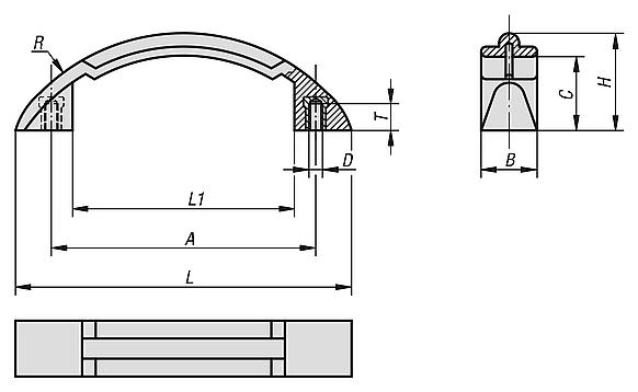 Pull handles arch