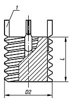 Threaded inserts solid body