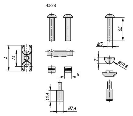 Pin connector sets Type B