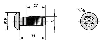 Central screw Type B