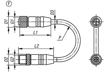 Connectors with screw fitting, Form F