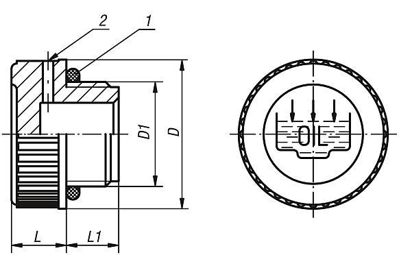 Kipp tappi filettati for Tappi antirumore 40 db
