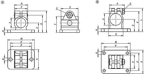 Tube clamps flange stainless steel