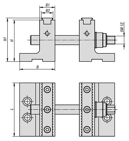 Step jaw attachment for 5-axis machining