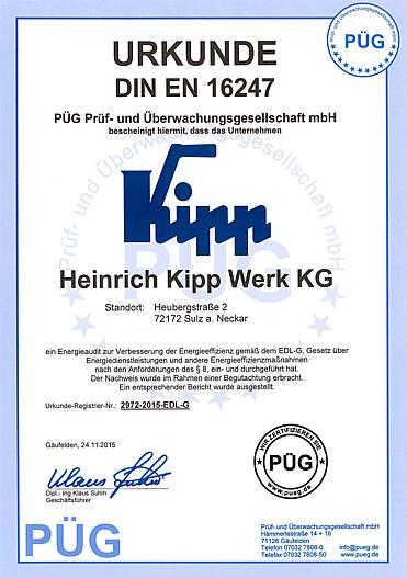 EN 16247 energy efficiency audit certificate