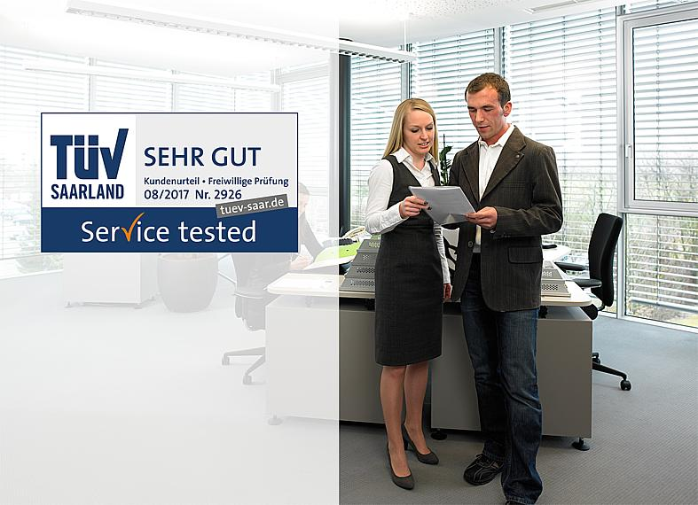 KIPP service in sales, Service tested TÜV Saarland